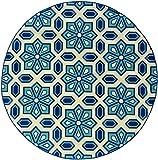 Oriental Weavers 969W6 Caspian Round Outdoor/Indoor Area Rug, 7-Feet 10-Inch