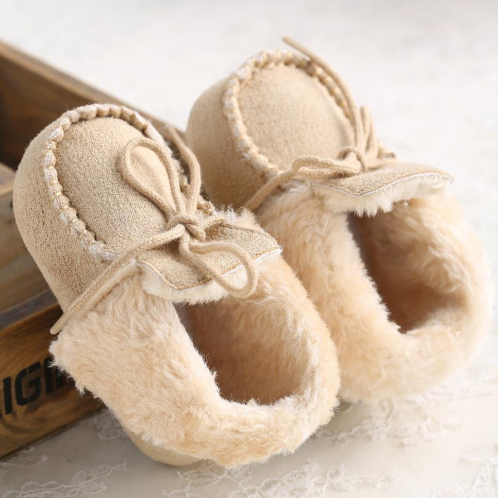 Voberry Baby Toddler Girls Soft Winter Warm Snow Boot Fur Trimmed Boots Booties