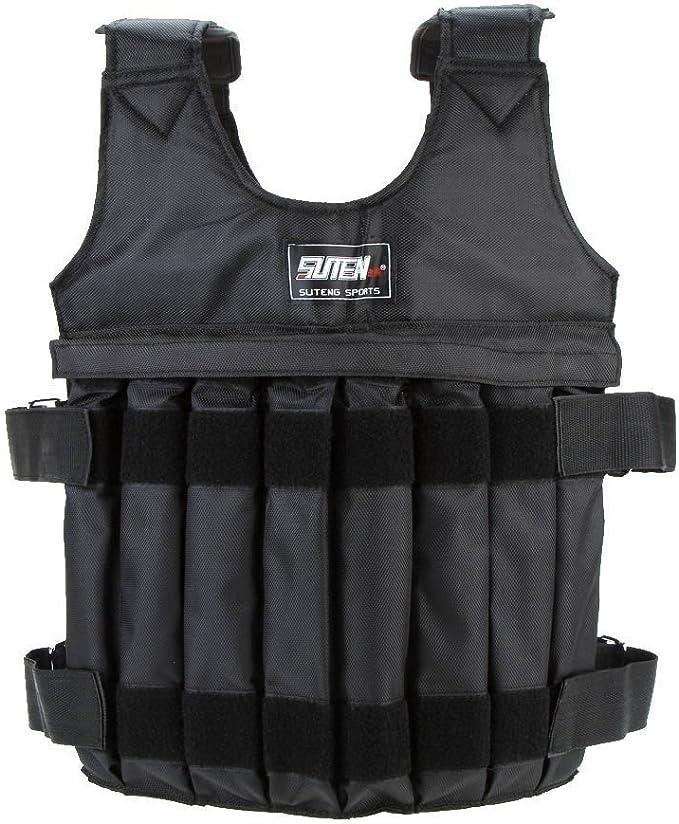 Noblik Loading Weighted Vest 20Kg Adjustable Weight Boxing Training Waistcoat Workout Fitness Equipment Waistcoat Sand Clothing