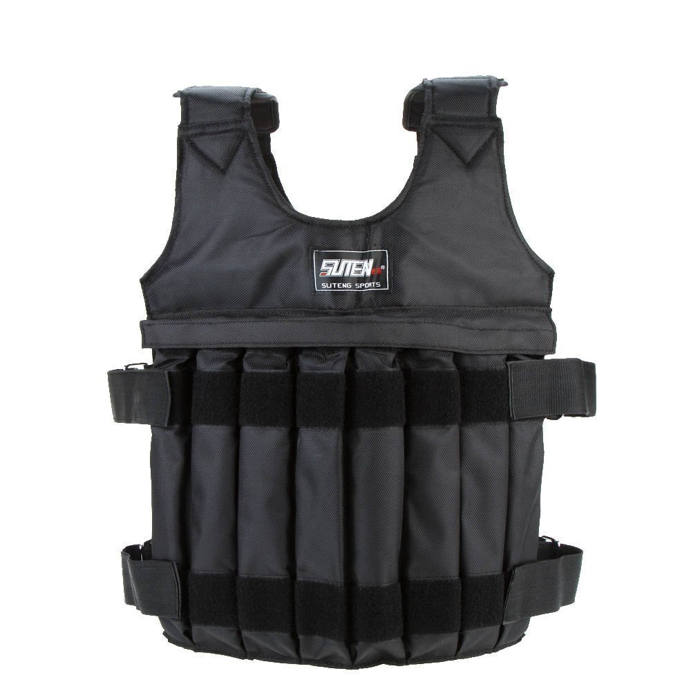 Thur amo Weighted Vest, 20KG/44LB Adjustable Strength Training Vest Running Exercise Boxing Fitness Weightloading Sand Clothing (Weights NOT Included) by Thur amo
