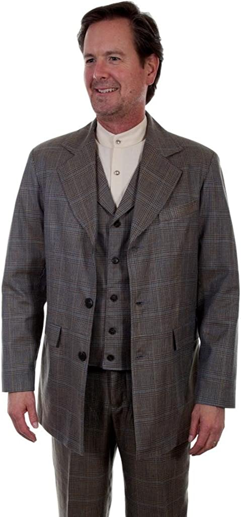 Scully Western Coat Mens Button Plaid Town 42 Multi-Color 541699