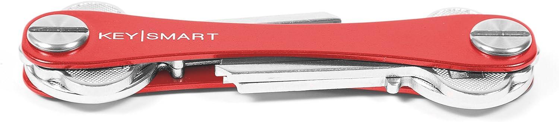 KeySmart - Compact Key Holder and Keychain Organizer (up to 8 Keys, Red)