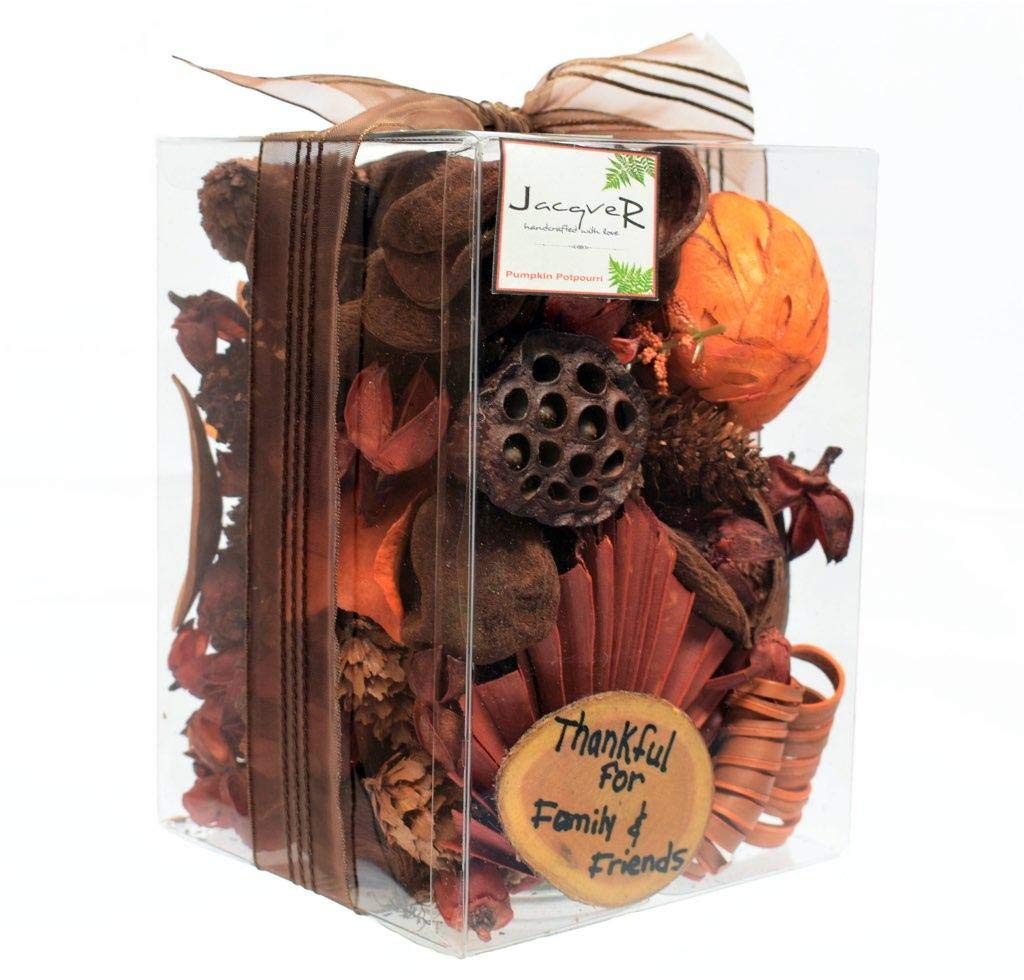 Jacqver Autumn Pumpkin Potpourri - Beautiful 11 oz Box of Pumpkin Spice Botanical Potpourri -Looks Great in Any Decorative Bowl.Made in USA |Mother-Daughter Handcrafted with All Our Love. by Jacqver
