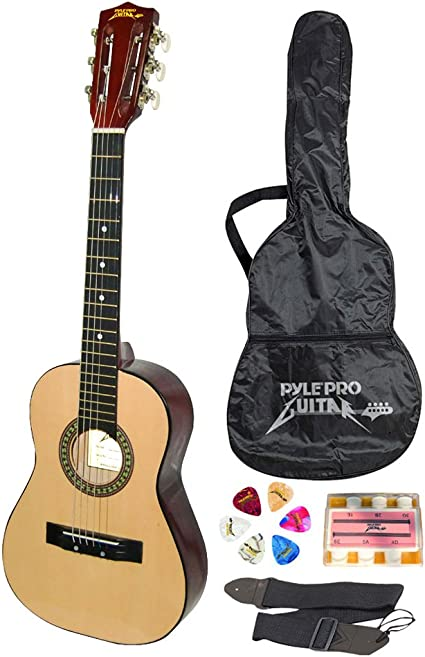 """36/"""" Right Handed 6 Strings Acoustic Practice Classtic Guitar Black"""