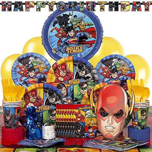 Deluxe Justice League Party Supplies Kit for (Birthday Deluxe Party Kit)