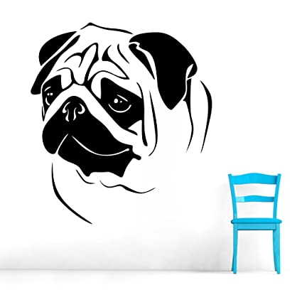9e7e99e51de Buy DECOR Kafe Home Decor Pug Wall Sticker