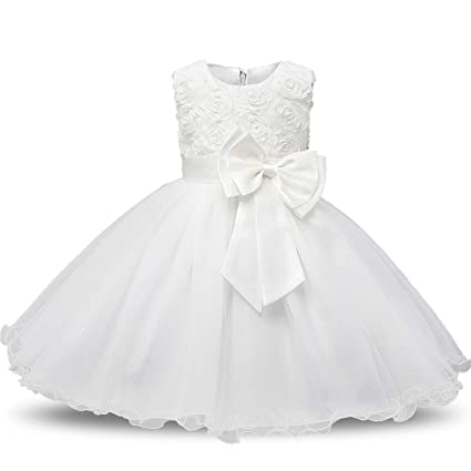 3960dc41e Amazon.com  Flower Sequins Princess Toddler Girl Dress Summer 2018 ...