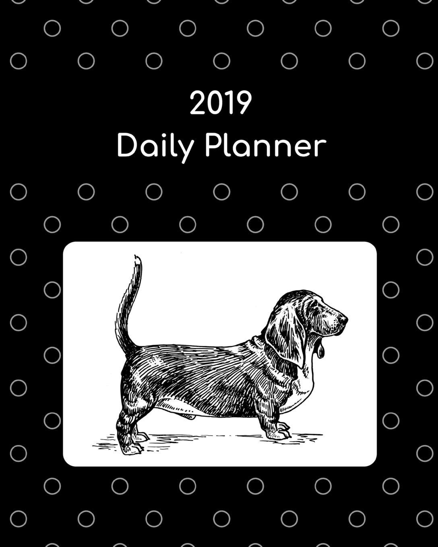 2019 Daily Planner: Basset hound; agenda book: Atkins Avenue ...