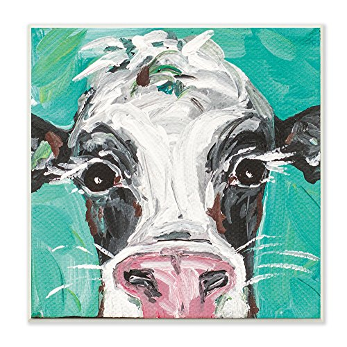 Stupell Industries Oreo The Painted Cow Wall Plaque Art, 12 x 0.5 x 12, Proudly Made in USA made in Rhode Island