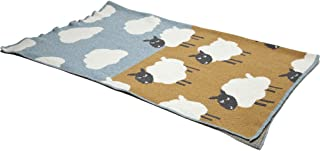 product image for in2green Baby Sheep Eco Throw - Blue Pond/Straw