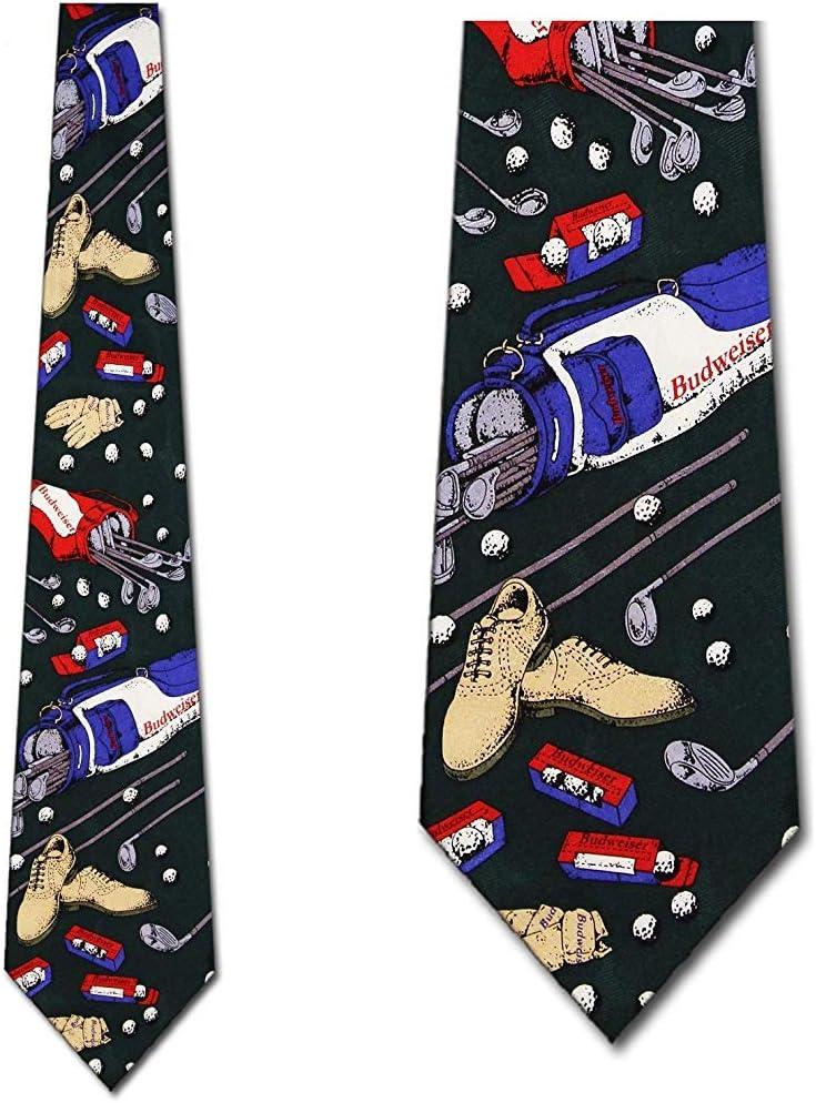 Budweiser Corbatas Corbatas de golf Corbata verde Corbata para ...