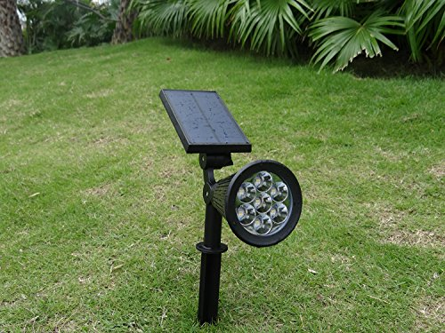 Solar garden lights 7 led solar spot light bright dark sensing solar garden lights 7 led solar spot light bright dark sensing auto onoff in ground light for the yard patio lawn landscape lighting outdoor aloadofball Image collections