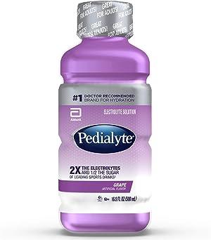 Pedialyte Electrolyte Solution Grape 16.9 fl oz, 12 Count
