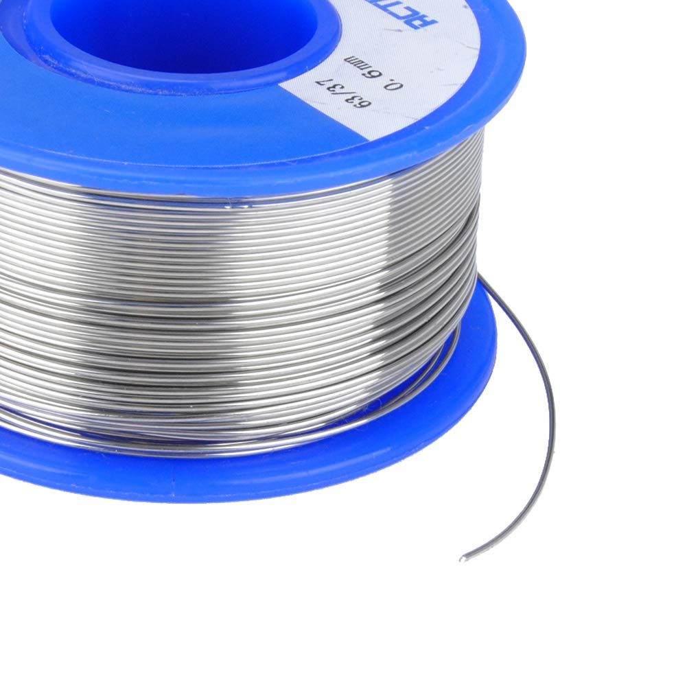 HUICAO Rosin Core Solder 0.023 inch/0.6mm 63/37 Wire Solder for Electrical Repair Wiring Circuit Boards – 100 g (0.023 inch/ 0.6mm)