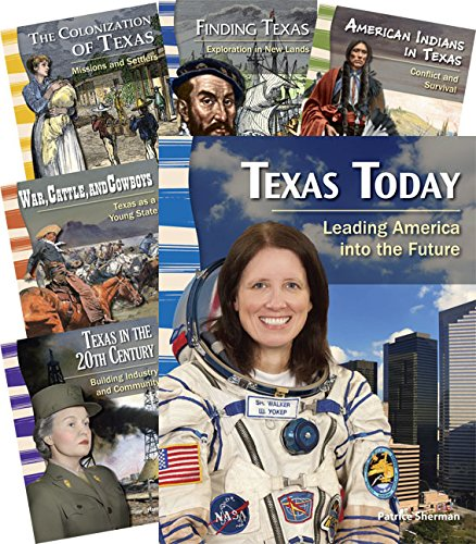 Teacher Created Materials - Primary Source Readers: The State of Texas - 8 Book Set - Grades 4-5 - Guided Reading Level P - T
