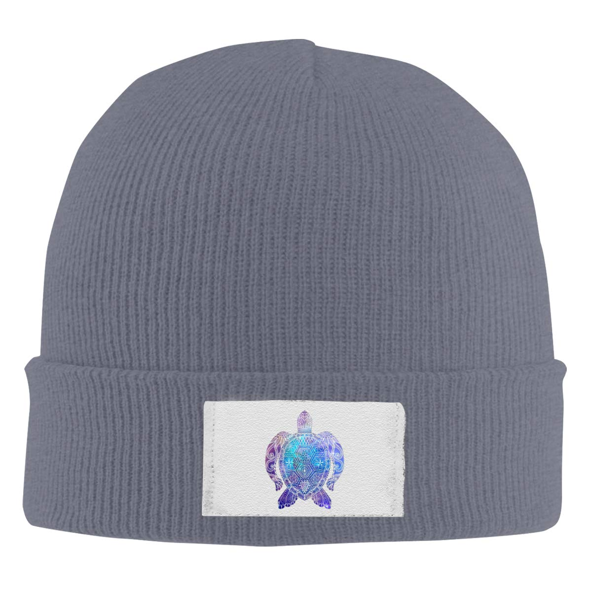 Space Sea Turtle Knitted Hat Winter Outdoor Hat Warm Beanie Caps for Men Women