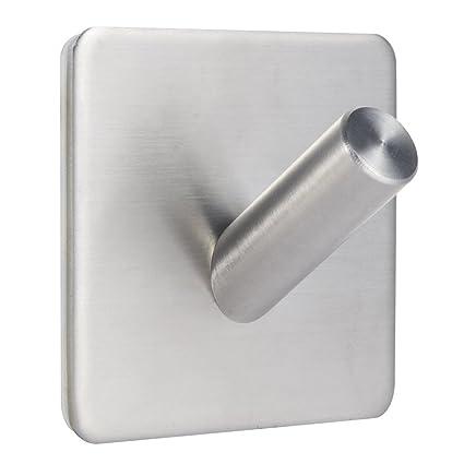 Gancho de Baño Percha de Baño Perchero de Acero Inoxidable Colgadores de puerta (acero_inoxidable, varios ganchos)