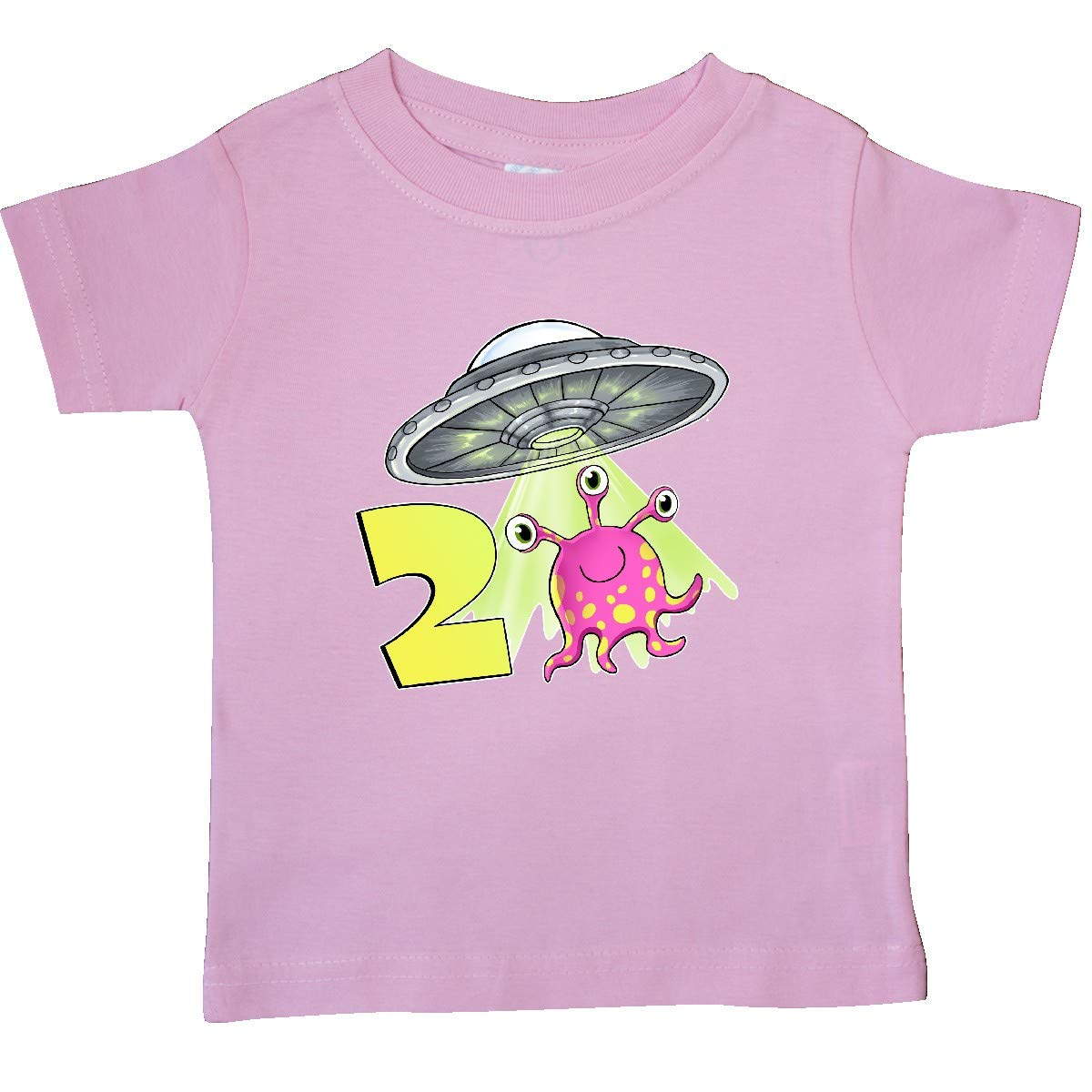 Cute Pink Alien UFO Baby T-Shirt inktastic Second Birthday