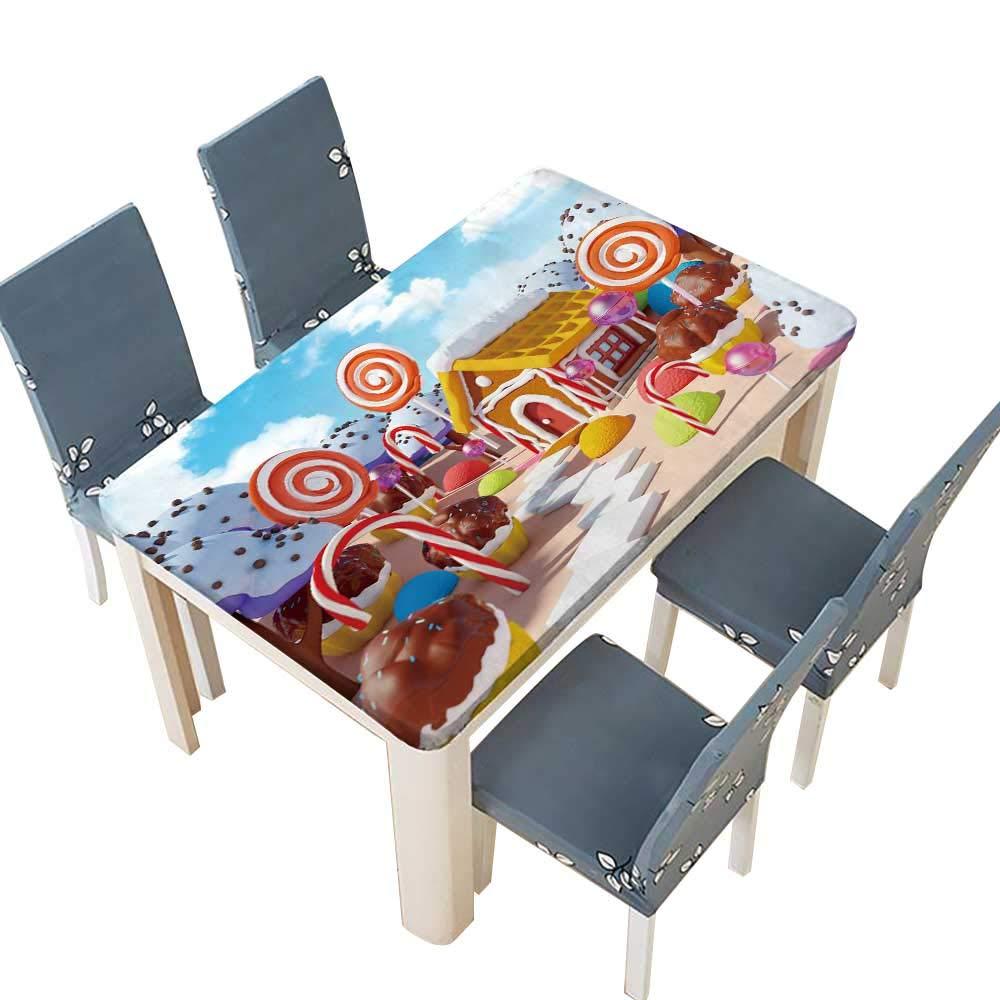 PINAFORE ポリエステルテーブルクロス ダイニングルーム用テーブルカバー キャンプ 幅25.5x長さ65インチ (エッジは丈夫な) W49
