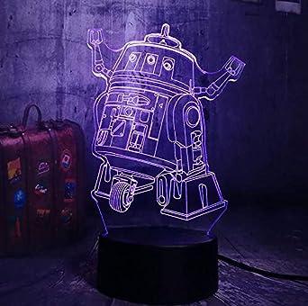 Lámpara De Mesa Con Decoración De Diapositivas De Luz Nocturna 3D ...