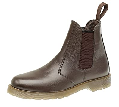 0ab9e179e55f Grafters Mens Leather Dealer Boots With Aircushion Sole  Amazon.co ...