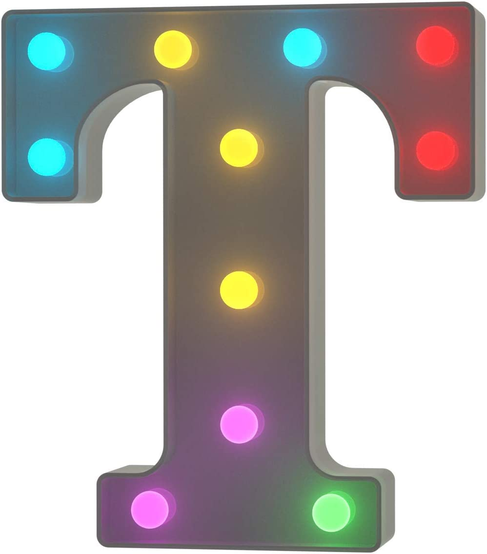 /& YOUZONE Letter Lights USB Powered Light up Letters with Remote 16 Color Changing Marquee Letter Lights Multicolor Colors for Home Bar Bedroom Party Wedding Christmas Decorations