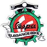 VESPA ELEGANCE BIKE Lambretta Scooter MOD Logo Sign Biker Racing Patch Iron on Applique Embroidered T shirt Jacket BY SURAPAN
