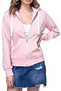 2bdf3ee074 Made By Johnny MBJ Womens Active Soft Zip Up Fleece Hoodie Sweater ...
