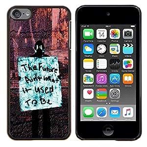 Queen Pattern - FOR Apple iPod Touch 6 6th Generation - future freedom occupy revolution rights sign - Cubierta del caso de impacto con el patr???¡¯???€????€?&Atil