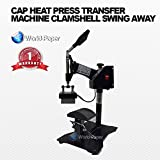 Hat Press Heat Press for Hats Digital LCD Timer Heat Press with Swing Away Top