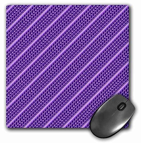 Pattern Tyre - 3dRose Russ Billington Patterns - Tyre Tracks Pattern in Two Tone Purple - Mousepad (mp_219183_1)