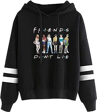 Five Four Unisex Adult Printed Plush Hooded Sweatshirt,Comfortable Style