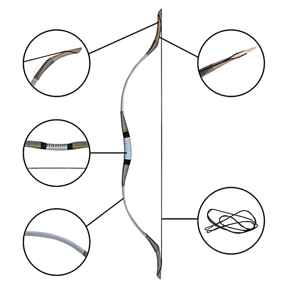 Amazon Com Irq 54 Archery Recurve Hunting Bow Traditional Wooden
