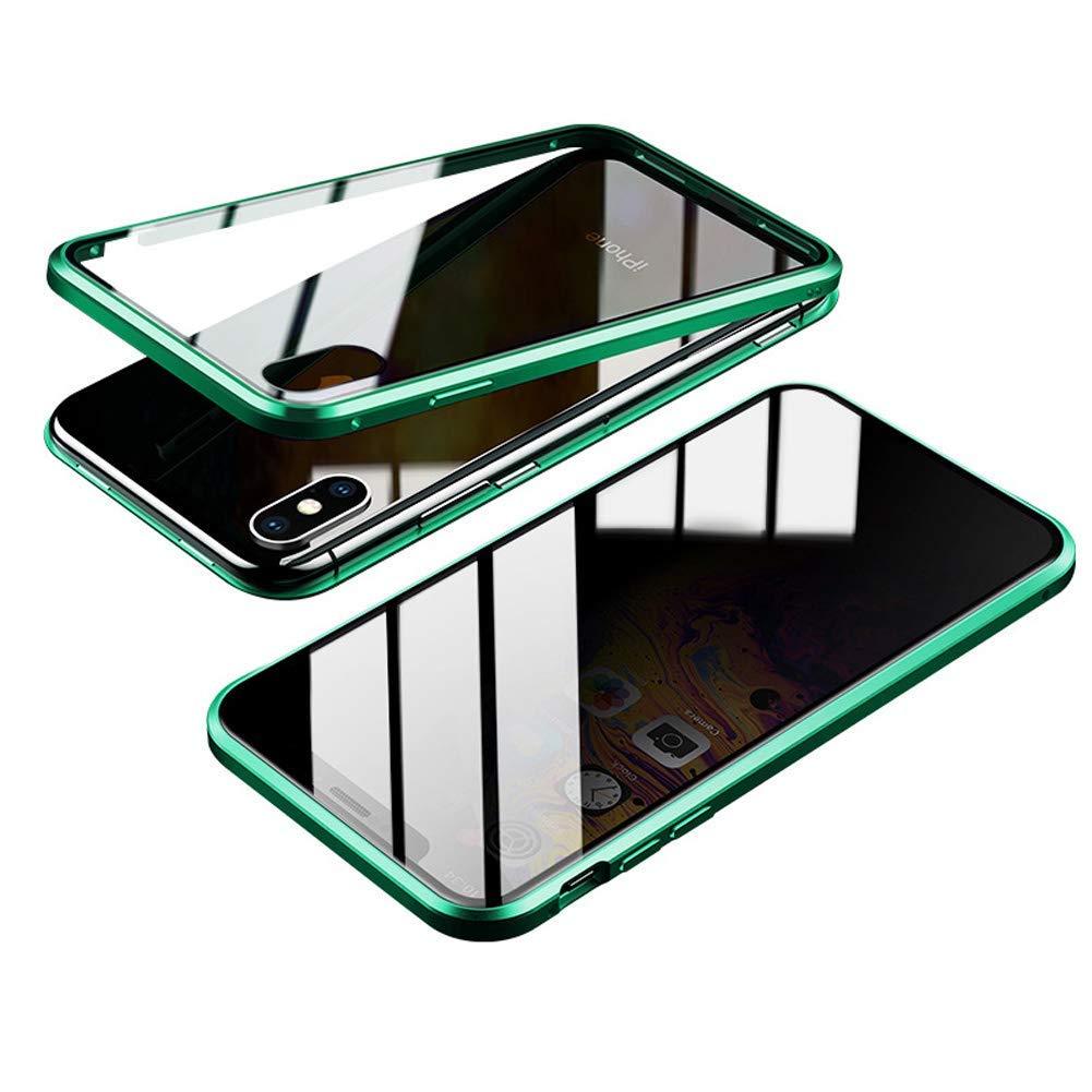 Estuche para tel/éfono magn/ético anti-p/ío Estuche protector para tel/éfono ultra delgado Anti-Spy 360 Protector de privacidad Funda protectora transparente de doble cara Para iphone 7//8 Plus, Oro