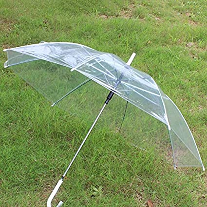 b06a5bf3a Image Unavailable. Image not available for. Color: LIShuai New Transparent  Clear Rain Umbrella Parasol PVC Dome for Wedding ...