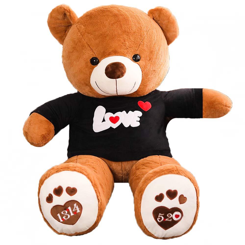 Zhyaj Big Bear Doll, Bequeme Plüschpuppe, Niedliche Spielzeuge und Accessoires Sind Mit Plüsch gefüllt. PP-Baumwolle 80180 cm Kann Als Geschenk Oder Spielzeug Verwendet Werden schwarz 100cm