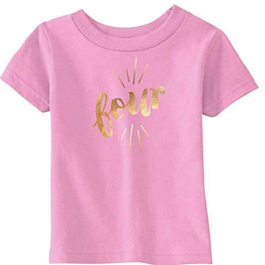 Amazon Crazy Dog T Shirts Toddler Four Years Old Gold Shimmer
