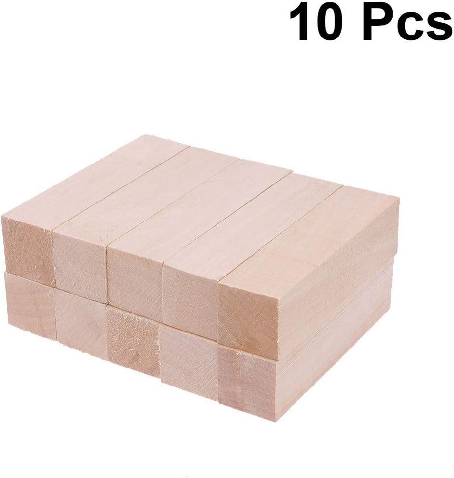 5 Cm 5 X 2 EXCEART 10 Piezas de Madera de Tilo para Tallar Bloques de Madera sin Terminar Bloques en Blanco Bloques de Tallado Rectangular para Principiantes Artesanales de Bricolaje Ni/ños 10 X 2