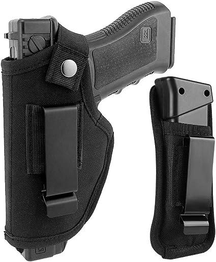 Gvn Cartuchera Para Pistola Táctica Oculta En El Cinturón Para Glock 26 27 30 43 M P Shield De 9 Milímetros 40 45 Auto Ruger Lc9 Lc380 Y Armas Compactas Y Sub