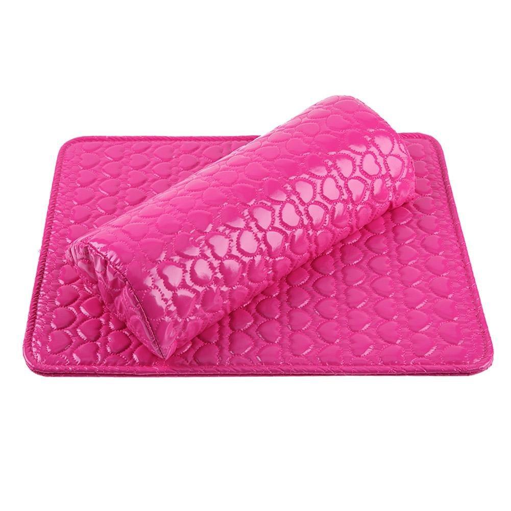 Amazon.com : 2pcs/set Leather Nail Art Pillow+Arm Rest Pad ...