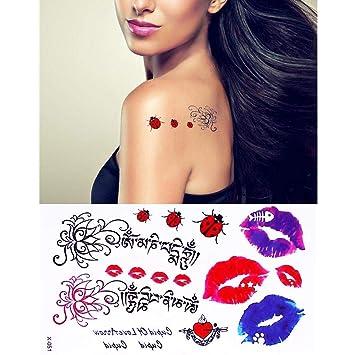 1 Cuerpo Belleza Maquillaje Tatuaje Color Falso Realista Dibujo ...