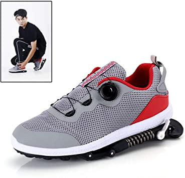 Zapatillas Deportivas de Aire para Correr con Amortiguador de muelles, Zapatillas de Deporte para Correr Unisex Gym Fitness Ligero, Gris: Amazon.es: Deportes y aire libre