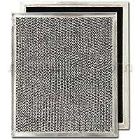 "Aluminum/Carbon Range Hood Filter - 8 15/16"" X 10 1/2"" X 3/32"""