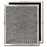 Aluminum/Carbon Range Hood Filter - 8 15/16' X 10 1/2' X 3/32'