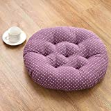 CHuAnGe Round Soft Chair Cushion, Floor Pillow Meditation Cushion Yoga Pad Tatami Chair Pads Dining Seat Cushion Perfect for Office Home Or Car-p 45x45cm(18x18inch)