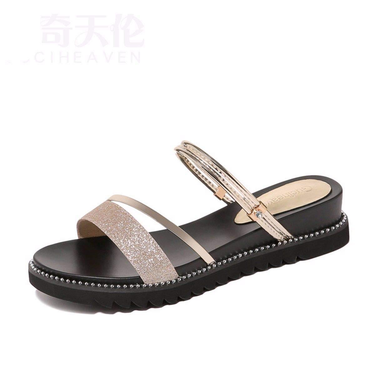 GTVERNH Frauen Schuhe/Meine Damen Strand Hausschuhe Sommer Mode Verschleiß Koreanisch Studenten