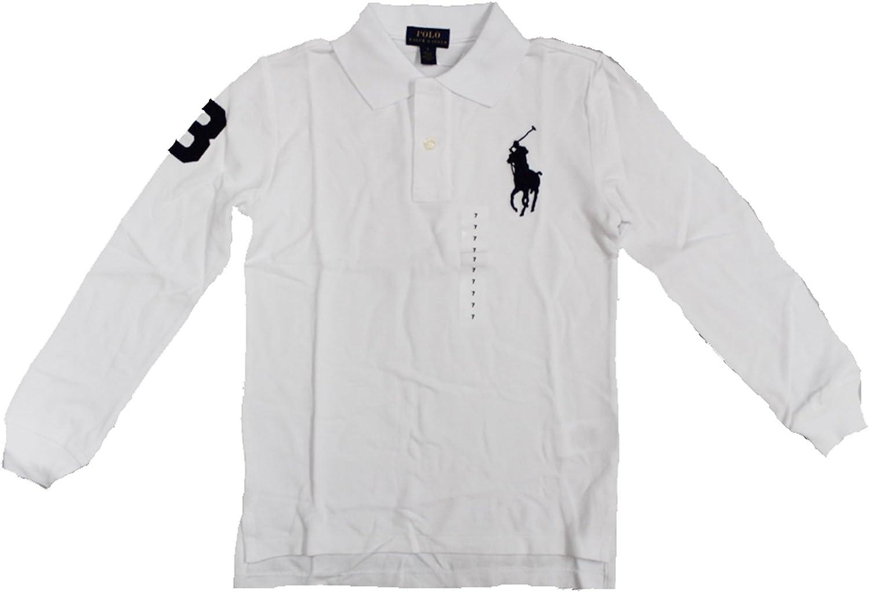 18-20 RALPH LAUREN Boys Cotton Mesh Long-Sleeve Polo Size XL