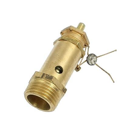 Latón 1/2BSP Hilo Compresor Aire Seguridad Válvula Alivio Presión 13Mpa