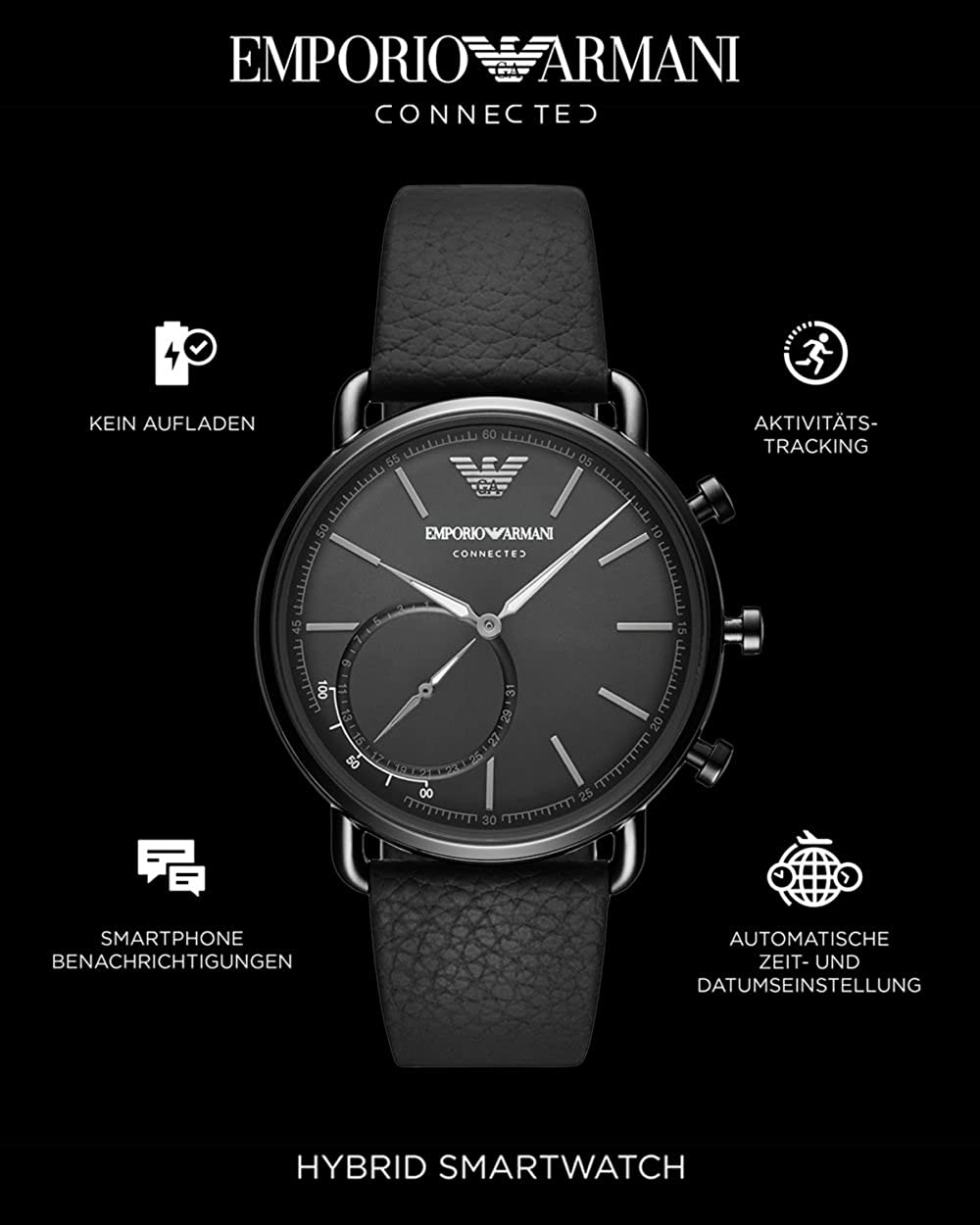 Emporio Armani Smartwatch ART3030: Amazon.es: Relojes