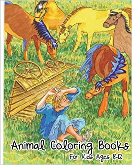 Animal Coloring Books For Kids Ages 8 12 Animals Book Super Fun Story Early Learning Activity Find
